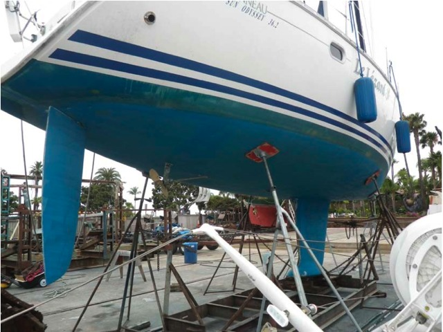Jeanneau Sun Odyssey 36.2 Hull, Rudder and Keel