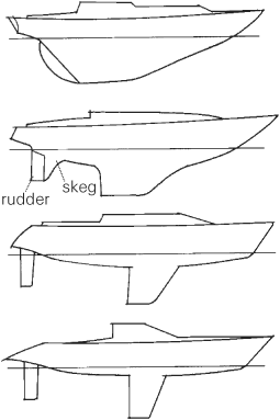 Cabin cruiser: Sailboat Hull Design Types