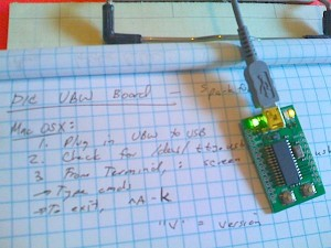 This PIC microcontroller connects to USB on a PC, Mac, or Linux machine